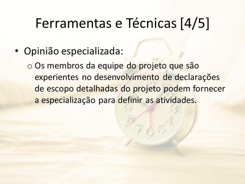 Ferramentas e Técnicas [4/5]